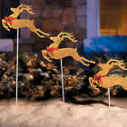 3 Leaping Reindeer Christmas Yard Decorations