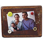 Reclaimed Tin and Wood Magnetic Frame