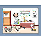 Personalized Veterinarian Cartoon Print