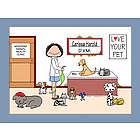 Personalized Veterinarian Cartoon Print