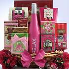 Mother's Day Sweet Treats Wine and Chocolate Gift Basket