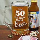 Give Me a Beer 50th Birthday Glass Mug
