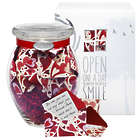 Heart Garden Jar of Messages in Mini Envelopes
