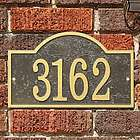 Arch House Number Address Plaque