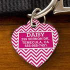 Personalized Chevron Heart Pet ID Tag
