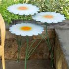 Metal 3-Tier Daisy Table