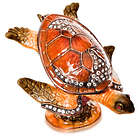 Vanity Sea Turtle Figurine with Swarovski Crystals