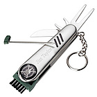 7 Function Stainless Steel Golf Tool Keychain