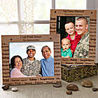 Personalized Military Dedication Frame
