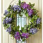 Faux Lilac Wreath