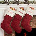 Personalized Holiday Carols Christmas Stocking