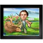 Hunter with Deer Caricature from Photo Art Print