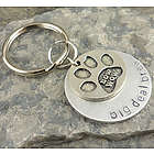 Bow Wow Doggie Personalized Hand Stamped Keychain