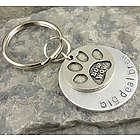 Bow Wow Doggie Personalized Hand Stamped Keychain