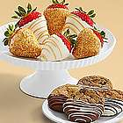 Dipped Cookies and Half Dozen Champagne Strawberries