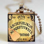 Ouija Board Upcycled Scrabble Tile Necklace