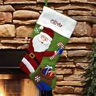 Personalized Country Santa Stocking in Green
