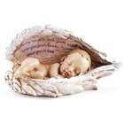 Sleeping Baby in Angel Wings Figurine