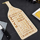 Wine Talk Engraved Cutting Board