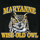 Personalized Wise Old Owl T-Shirt
