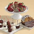 Dipped Cookies, Sweet Cherries and Birthday Strawberries Gift Box