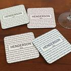 Our Family Personalized Hardwood Coasters with Holder