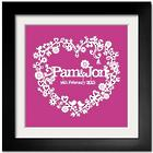 Personalized Paper Cut Love Heart Framed Print