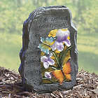 Friends Solar Lighted Butterfly Rock