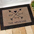 Personalized Arrows of Love Doormat