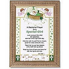 Irish Baptismal Prayer Framed Print for Girl