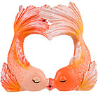 Kissing Goldfish Heart Bubbler Aquarium Ornament