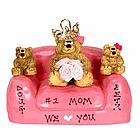 We Love You Mom and Family Bears in Love Seat