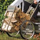 Rolling Wood Caddy With Cover