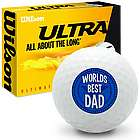 World's Best Dad Wilson Ultra Ultimate Distance Golf Balls