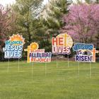 He is Risen Easter Yard Signs