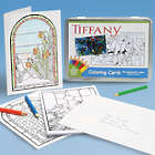 Tiffany Stained Glass Coloring Cards Kit