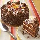 Chocolate Caramel Custard Layer Cake