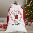 Personalized Reindeer Mail Santa Sack