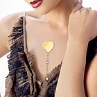Heart with Swarovski Crystal Drop Adhesive Pendant