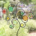 Colorful Glass Circle Metal Garden Stake