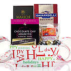 Happy Holidays Snacks Gift Tray