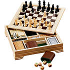 7-in-1 Wood Desktop Champion Game Board Set