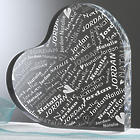 Personalized Couple In Love Heart Plaque