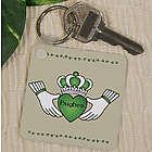 Personalized Irish Claddagh Key Chain