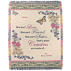 Personalized Cousin Throw