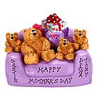 Personalized Best Mom and Family Bears in Love Seat