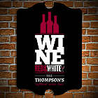 Red, White and Wine Personalized Bar Sign
