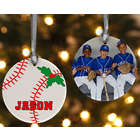 2 Sided Baseball Personalized Photo Ornament