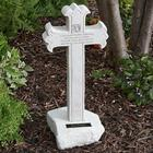 Personalized Up To Heaven Memorial Cross Garden Statue
