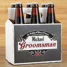 Groomsman's Personalized Wedding Beer Bottle Carrierr